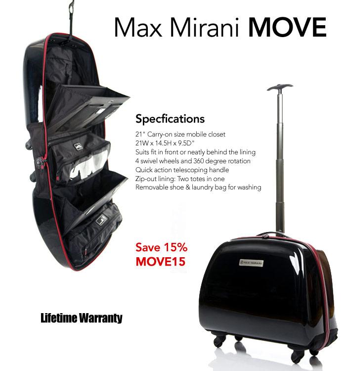 Max Mirani Slim Closet Suitcase